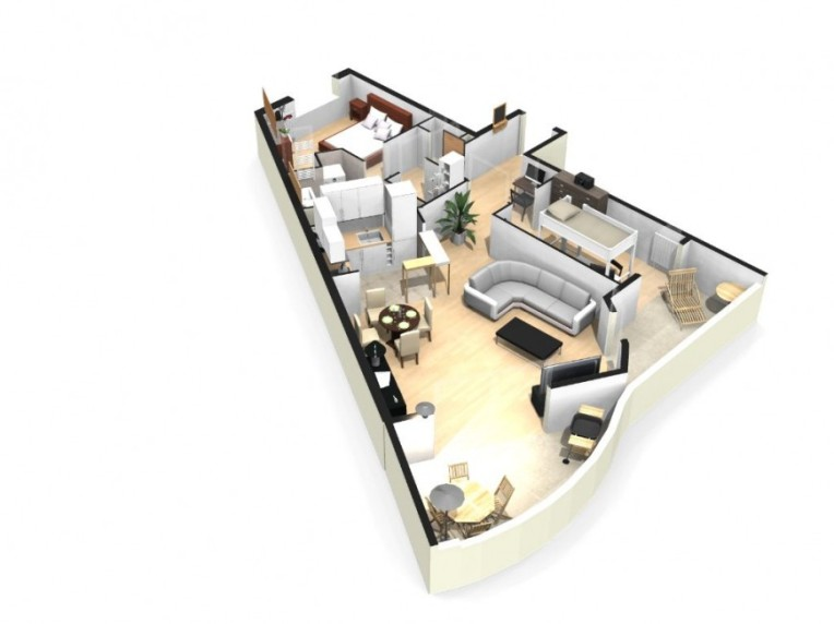 Example of an interior design by HomeByMe interior design software